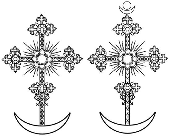 Символы Архангела Гавриила и Девы Марии