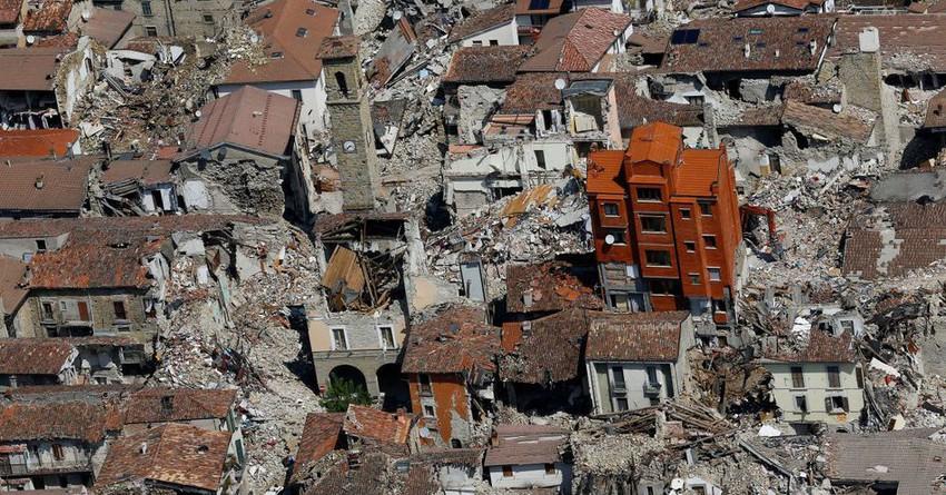 Сейсмическая ситуация в Италии.